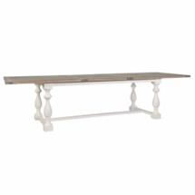 table bois piètement chromé